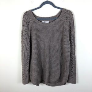 Loft Knit Pullover Knit Sweater